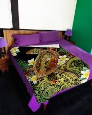 "I freaking love turtles Large Fleece Blanket - 60"" x 80"" aos-coral-fleece-blanket-60x80-lifestyle-front-01"