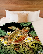 "I freaking love turtles Large Fleece Blanket - 60"" x 80"" aos-coral-fleece-blanket-60x80-lifestyle-front-02"