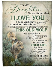 """To my daughter - Never forget that I love you Large Fleece Blanket - 60"""" x 80"""" front"""