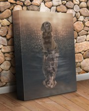 Chocolate Labrador 11x14 Gallery Wrapped Canvas Prints aos-canvas-pgw-11x14-lifestyle-front-18