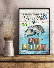Turtles - Be kind 24x36 Poster lifestyle-poster-3