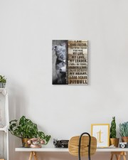 Pit bull - I am your friend 11x14 Gallery Wrapped Canvas Prints aos-canvas-pgw-11x14-lifestyle-front-03