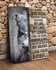 Pit bull - I am your friend 11x14 Gallery Wrapped Canvas Prints aos-canvas-pgw-11x14-lifestyle-front-18