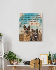 German Shepherd - Smile more 16x20 Gallery Wrapped Canvas Prints aos-canvas-pgw-16x20-lifestyle-front-03