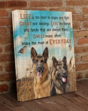 German Shepherd - Smile more 16x20 Gallery Wrapped Canvas Prints aos-canvas-pgw-16x20-lifestyle-front-09