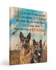 German Shepherd - Smile more 16x20 Gallery Wrapped Canvas Prints front