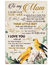 To my mom - You will always be your little boy 11x17 Poster front