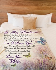 """To my husband - Remember that I always love you Large Fleece Blanket - 60"""" x 80"""" aos-coral-fleece-blanket-60x80-lifestyle-front-02"""