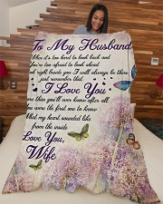 """To my husband - Remember that I always love you Large Fleece Blanket - 60"""" x 80"""" aos-coral-fleece-blanket-60x80-lifestyle-front-04"""