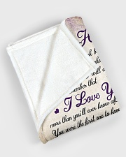"""To my husband - Remember that I always love you Large Fleece Blanket - 60"""" x 80"""" aos-coral-fleece-blanket-60x80-lifestyle-front-08"""