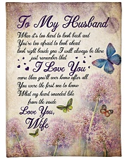 """To my husband - Remember that I always love you Large Fleece Blanket - 60"""" x 80"""" front"""