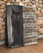 Black cat - Before I met you 11x14 Gallery Wrapped Canvas Prints aos-canvas-pgw-11x14-lifestyle-front-18