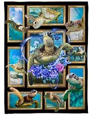 "Beautiful turtle Large Fleece Blanket - 60"" x 80"" front"