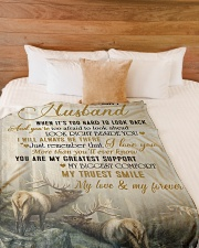 """To my husband - I will always be there Large Fleece Blanket - 60"""" x 80"""" aos-coral-fleece-blanket-60x80-lifestyle-front-02"""
