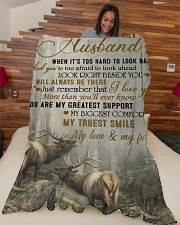 """To my husband - I will always be there Large Fleece Blanket - 60"""" x 80"""" aos-coral-fleece-blanket-60x80-lifestyle-front-04"""