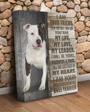 Staffordshire Bull Terrier - I am your friend 11x14 Gallery Wrapped Canvas Prints aos-canvas-pgw-11x14-lifestyle-front-18