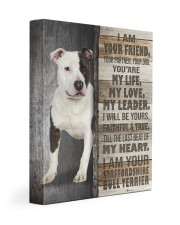 Staffordshire Bull Terrier - I am your friend 11x14 Gallery Wrapped Canvas Prints front