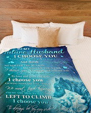 """My future husband - I choose you to be by my side Large Fleece Blanket - 60"""" x 80"""" aos-coral-fleece-blanket-60x80-lifestyle-front-02"""