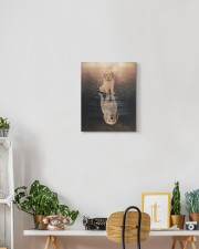 Goldendoodle - Reflection 11x14 Gallery Wrapped Canvas Prints aos-canvas-pgw-11x14-lifestyle-front-03