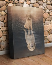 Goldendoodle - Reflection 11x14 Gallery Wrapped Canvas Prints aos-canvas-pgw-11x14-lifestyle-front-18