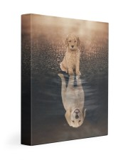 Goldendoodle - Reflection 11x14 Gallery Wrapped Canvas Prints front