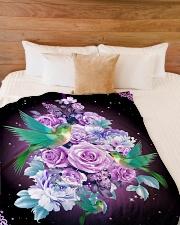 "Beautiful hummingbirds Large Fleece Blanket - 60"" x 80"" aos-coral-fleece-blanket-60x80-lifestyle-front-02"