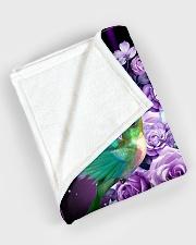 "Beautiful hummingbirds Large Fleece Blanket - 60"" x 80"" aos-coral-fleece-blanket-60x80-lifestyle-front-08"