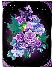 """Beautiful hummingbirds Large Fleece Blanket - 60"""" x 80"""" front"""
