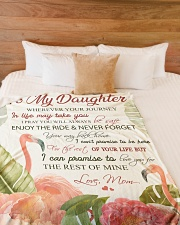 """To my daughter - Never forget your way back home Large Fleece Blanket - 60"""" x 80"""" aos-coral-fleece-blanket-60x80-lifestyle-front-02"""