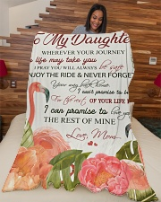 """To my daughter - Never forget your way back home Large Fleece Blanket - 60"""" x 80"""" aos-coral-fleece-blanket-60x80-lifestyle-front-04"""