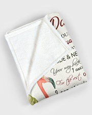 """To my daughter - Never forget your way back home Large Fleece Blanket - 60"""" x 80"""" aos-coral-fleece-blanket-60x80-lifestyle-front-08"""