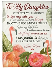 """To my daughter - Never forget your way back home Large Fleece Blanket - 60"""" x 80"""" front"""