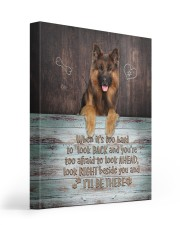 German Shepherd - I'll be there 16x20 Gallery Wrapped Canvas Prints front