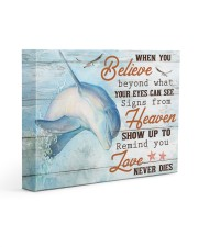 I love dolphins 14x11 Gallery Wrapped Canvas Prints front