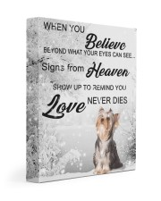 Yorkshire Terrier - Signs from heaven 11x14 Gallery Wrapped Canvas Prints front