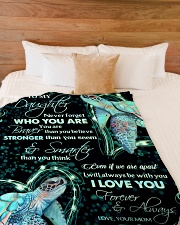 """To my daughter - Never forget who you are Large Fleece Blanket - 60"""" x 80"""" aos-coral-fleece-blanket-60x80-lifestyle-front-02"""