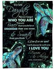 """To my daughter - Never forget who you are Large Fleece Blanket - 60"""" x 80"""" front"""