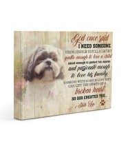 Shih tzu - Need someone to love a child 14x11 Gallery Wrapped Canvas Prints front