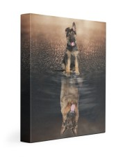 German Shepherd - I am not a baby 11x14 Gallery Wrapped Canvas Prints front