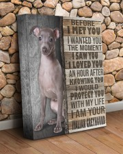 Italian Greyhound - Before I met you 11x14 Gallery Wrapped Canvas Prints aos-canvas-pgw-11x14-lifestyle-front-18