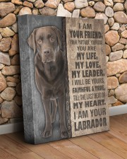 Chocolate Labrador - I am your friend 11x14 Gallery Wrapped Canvas Prints aos-canvas-pgw-11x14-lifestyle-front-18
