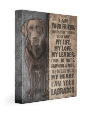 Chocolate Labrador - I am your friend 11x14 Gallery Wrapped Canvas Prints front