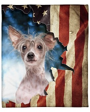 """Beautiful Chinese Crested Dog Fleece Blanket - 50"""" x 60"""" front"""