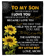 """To my son - You are my little boy Small Fleece Blanket - 30"""" x 40"""" front"""