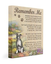 Pit bull - Remember me 11x14 Gallery Wrapped Canvas Prints front