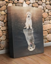 Golden Retriever Reflection  11x14 Gallery Wrapped Canvas Prints aos-canvas-pgw-11x14-lifestyle-front-18