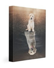 Golden Retriever Reflection  11x14 Gallery Wrapped Canvas Prints front