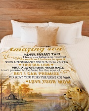"""To my son - Never forget that I love you Large Fleece Blanket - 60"""" x 80"""" aos-coral-fleece-blanket-60x80-lifestyle-front-02"""