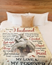 """To my husband - My love and my forever Large Fleece Blanket - 60"""" x 80"""" aos-coral-fleece-blanket-60x80-lifestyle-front-02"""