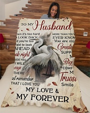 """To my husband - My love and my forever Large Fleece Blanket - 60"""" x 80"""" aos-coral-fleece-blanket-60x80-lifestyle-front-04"""